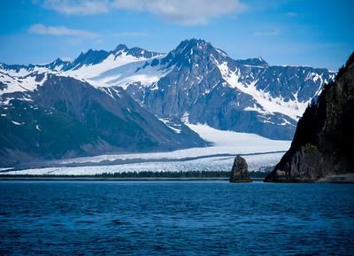 Water and blue sky of Resurrection Bay Alaska