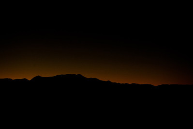 Sun setting over the mountains in New Mexico