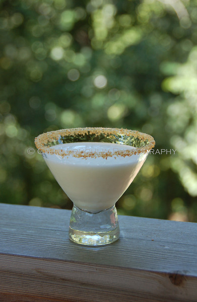 Coconut Rimmed Creamy Drink 028