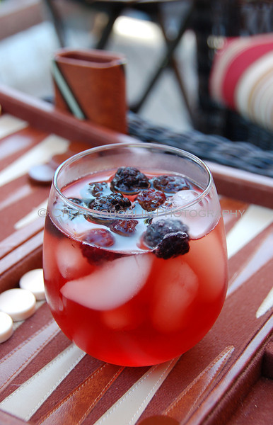 Red Drink with Blackberries On the Rocks 069