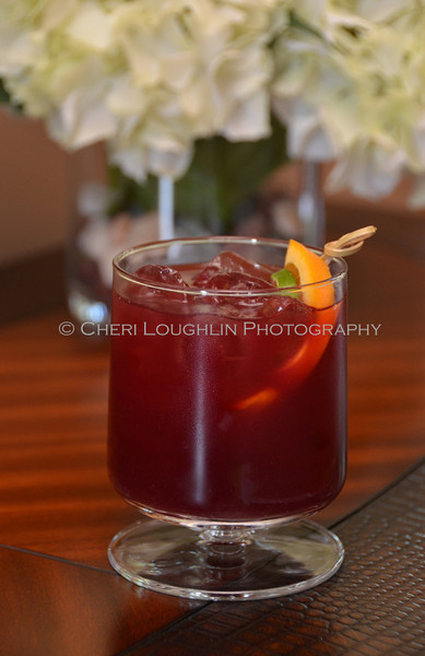 Red Cocktail with Orange & Lime Garnish 140-2011-07-20