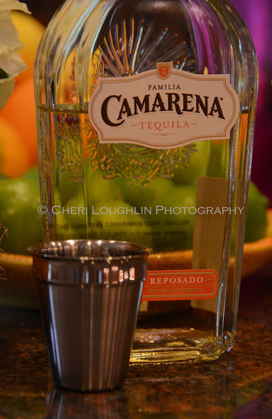 Camarena Tequila with cocktail measuring cup