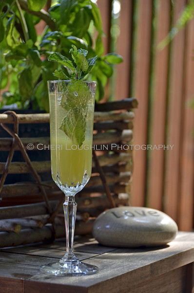 Minted Pineapple Champagne Cocktail 130