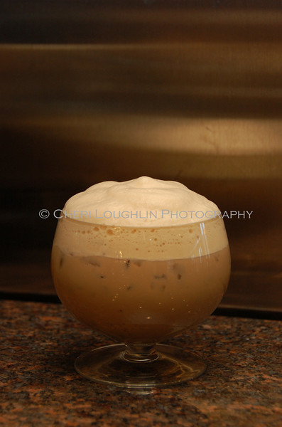 Coffee Cocktail Topped with Foam 027-2010-01-07