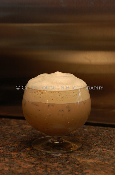 Coffee Cocktail Topped with Foam 026-2010-01-07