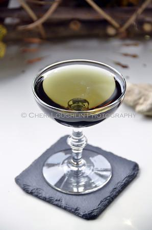 Emerald Dragon Cocktail - Black Martini 048