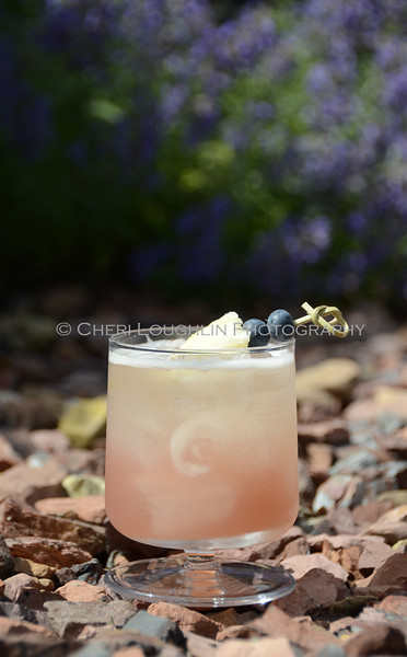 Pineapple Blueberry Basil Cocktail 030