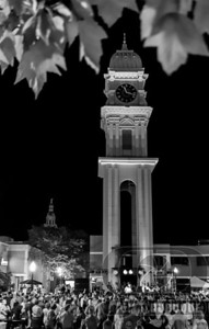 town_clock_BW