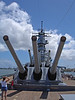 The big guns are out on this destroyer docked in Pearl Harbor. To my shame, I can't remember her name, but thank you to all who served.