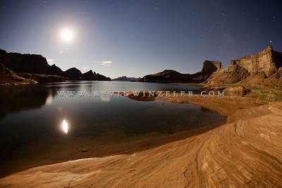 """Moon over Lake Powell""  Limited Edition Print - Production limited to only 200 prints per size Read more about the prints here.                                         		     Sizes:   		11x14 - $300 		16x20 - $600 		20x30 - $900 		30x40 - $1200"