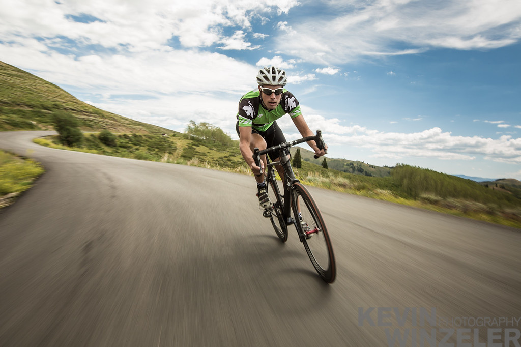 Descent on the Road Bike - Cycling in Utah