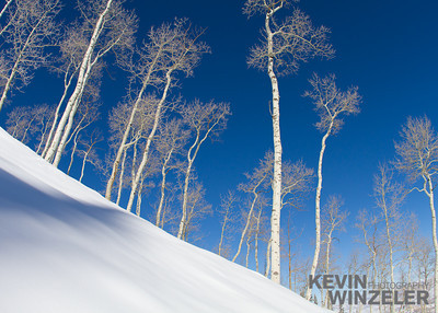 It's a beautiful bluebird day with a fresh layer of powder at Park City Ski resort in Utah.