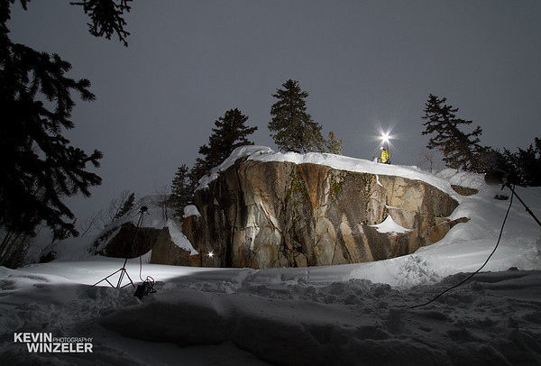 A behind the scenes look at professional photographer Kevin Winzeler and a skiing photography lighting set-up for the 2010 salt lake shootout contest.  This is a region near the base of Brighton Ski resort.