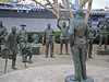 What a touching group statue of Bob hope entertaining the troops. A definate stop while in San Diego. As you can see, it's right next to the USS Midway.