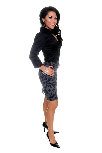 Beautiful young Latina business executive