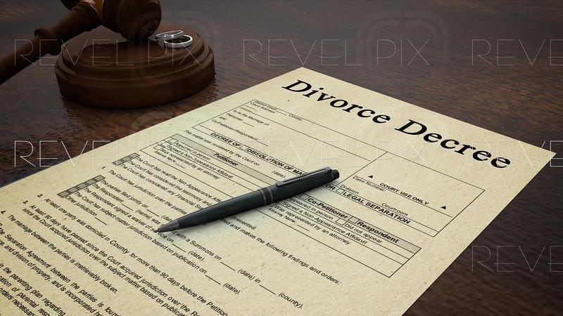 Gavel Divorce Paper Decree Right