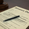Gavel Divorce Paper Decree Right