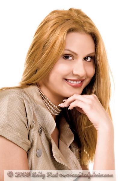 Corporate Headshot of a blonnd female executive