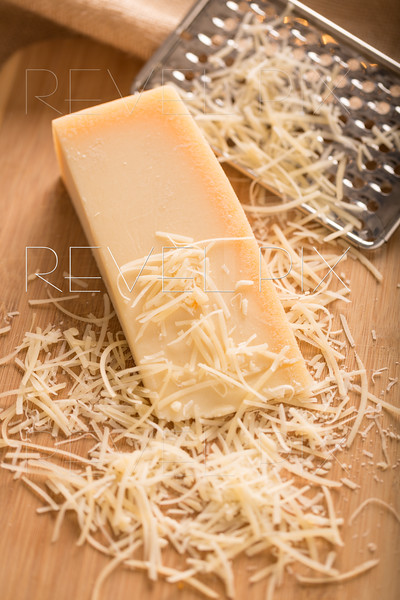 Parmesan Cheese and Grater Above