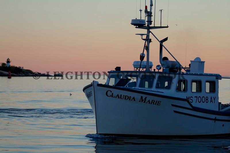 9-27-13 Gloucester Harbor Cruise on the schooner Thomas E. Lannon.