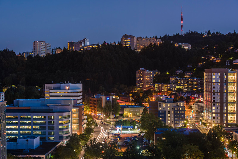 OHSUonthehillatNight