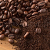 Mound of Coffee Beans and Grounds