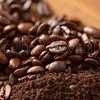 Coffee Grounds and Beans Close Up