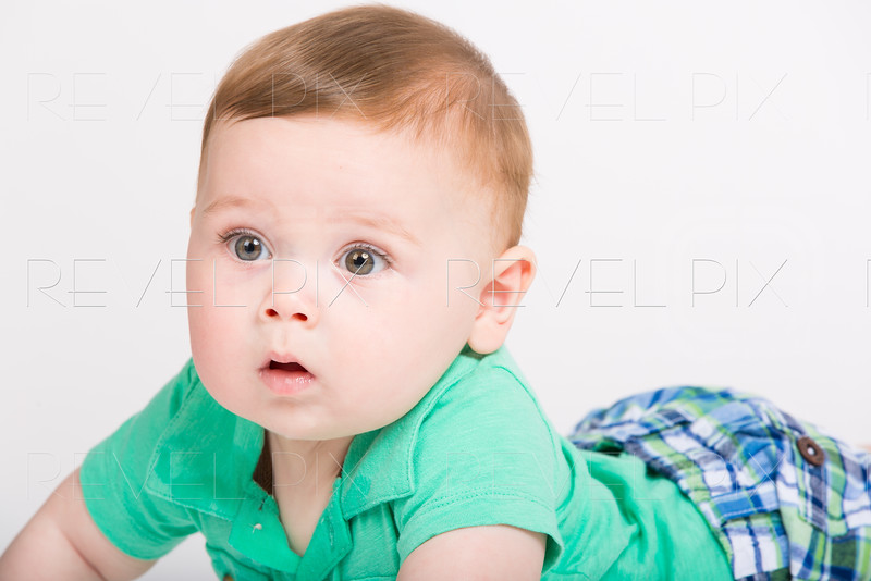 Baby Surprised Close Up