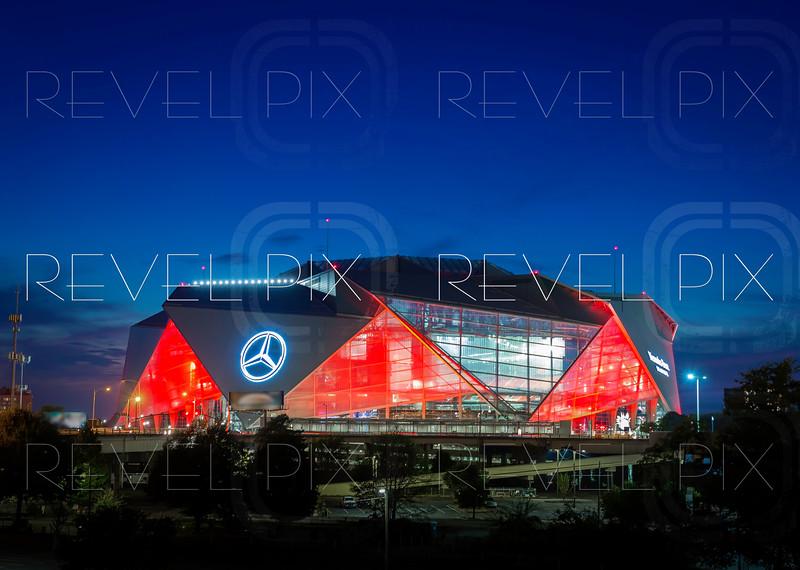 ATLANTA, GA - September 29, 2018: Mercedes-Benz Stadium on September 29, 2018 in Atlanta