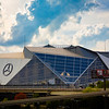 ATLANTA, GA - September 29, 2018: Mercedes-Benz Stadium on September 29, 2018 in Atlanta