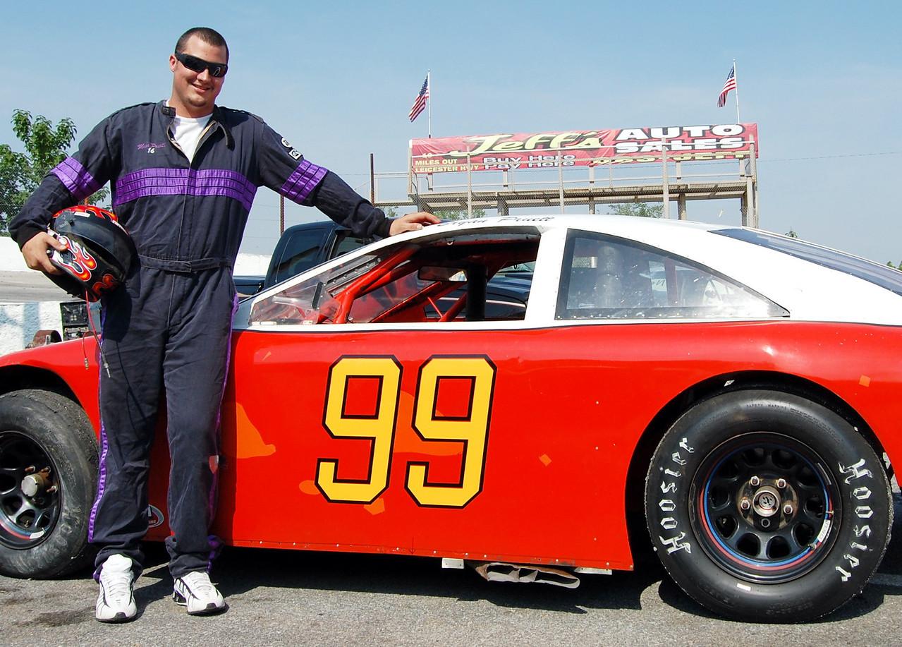 Mod 4 Driver:Bryan Pruett Car #99 Hometown:Weaverville, NC Sponsors:Fast Lane Towing, Rick & Debbie Pruett, Weaverville Tire First Race:a6yuears old-Newport FWD, Baby road hogs First Win :5-2011. Newport Motor Speedway