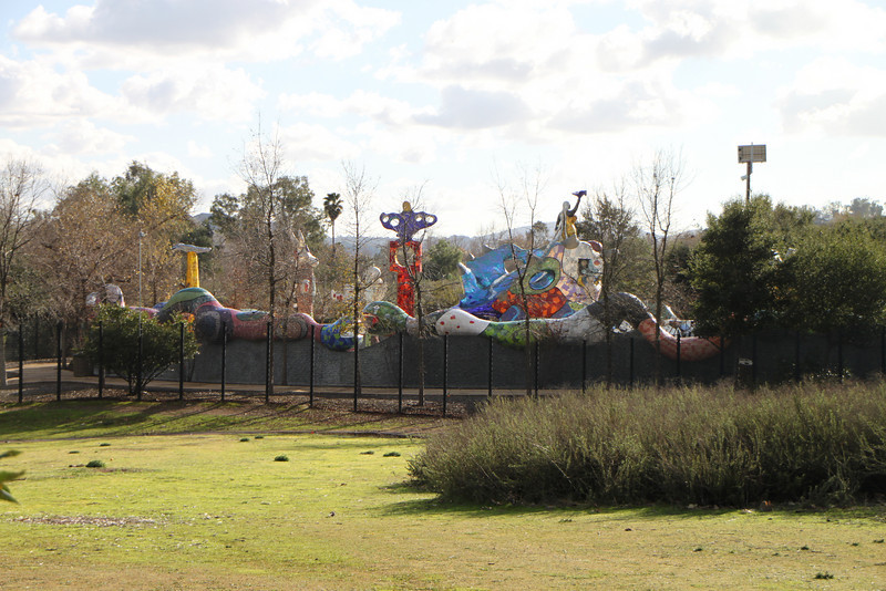 On the way home, we stopped at Kit Carson Park for a quick walk.  Turns out there is a Niki de Saint Phalle sculpture garden there.  <br /> 1/23/10