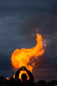 "STOCKHOLM 2014-04-30 Stockholm ""Valborgsmässoafton"" fire; the eve of May Day, Walpurgis night Photo Maria Langen / Sverredal & Langen AB"