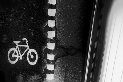 Bicycle black and white