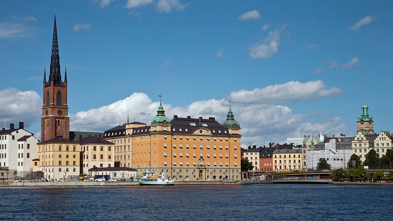From left - Riddarholms church, Old Parliament House (1834 - 1905) and German church