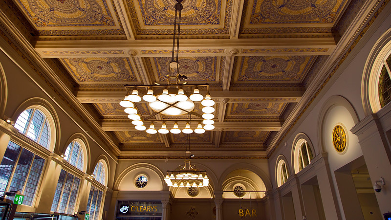 The ceiling in entré to the railway station in Stockholm