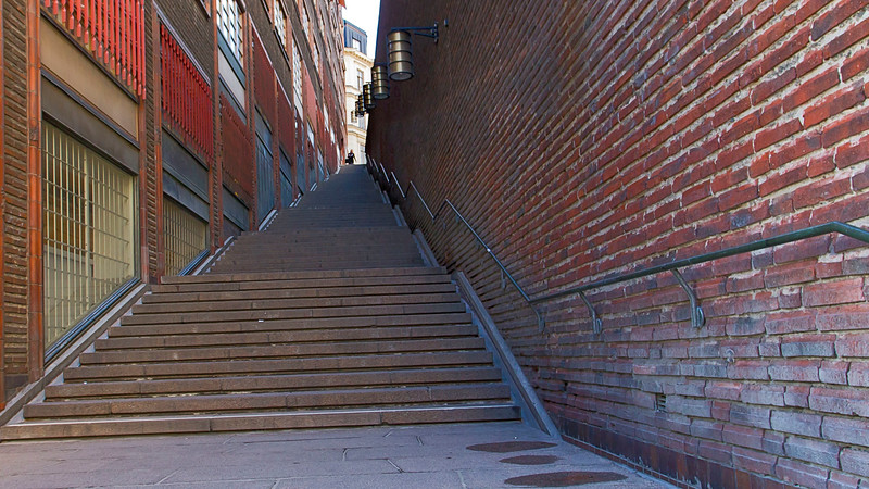 Steps to Malmskillnadsgatan Stockholm, Sweden