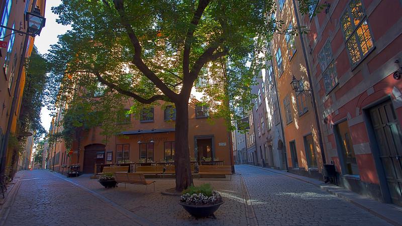 Brända tomten - Själagårdsgatan  / Kindstugatan old town Stockholm, Sweden