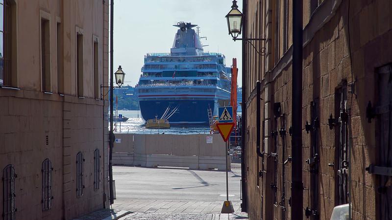 Many cruising skips visit Stockholm.