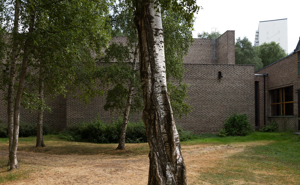 Markuskyrkan, Björkhagen (Stockholm), by Sigurd Lewerentz. July 2010.
