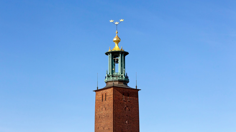 The tower of the city hall in Stockholm