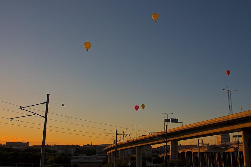 Baloons over Skanstullsbron Stockholm