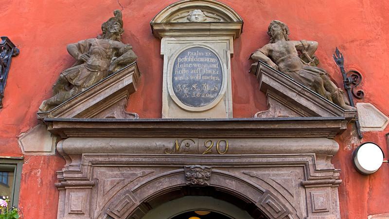 Entrance in Stortorget, Old Town Stockholm