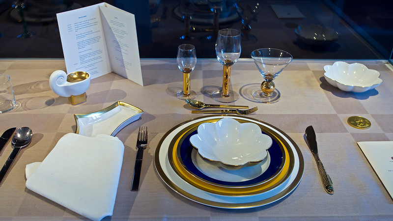 Table setting at the Nobel banquet, Stockholm