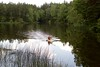Canoeing in a lake, Stockholm