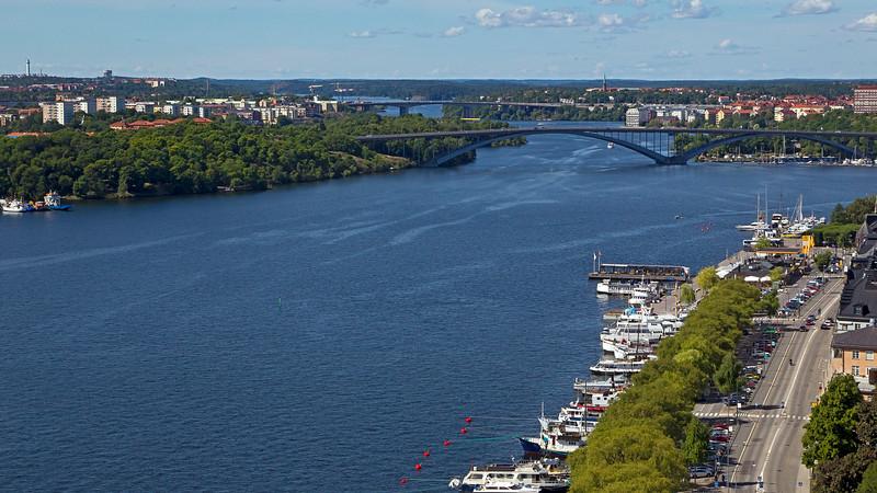 Riddarfjärden, Norr Mälarstrand, Västerborn, Essingeleden, Stockholm