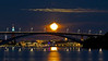 Full moon in Stockholm city