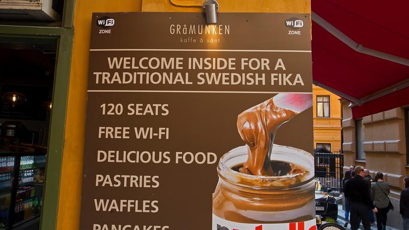 Traditional cafe' Stockholm