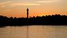 Sunset behind Kaknästornet Stockholm