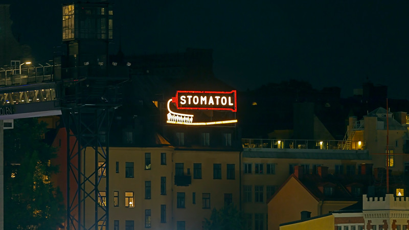 Sweden's first animated commercial display  since 1909,  Stockholm